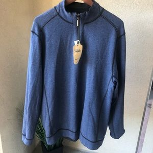 NWT Tommy Bahama Reversible half zip sweatshirt